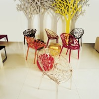 Polycarbonate chairs show up in all styles