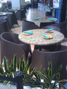 Brown Aruba Restaurant Chairs Installation