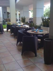 Brown Aruba Outdoor Cafe Chairs
