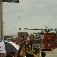 LeBron James at Miami Heat Parade