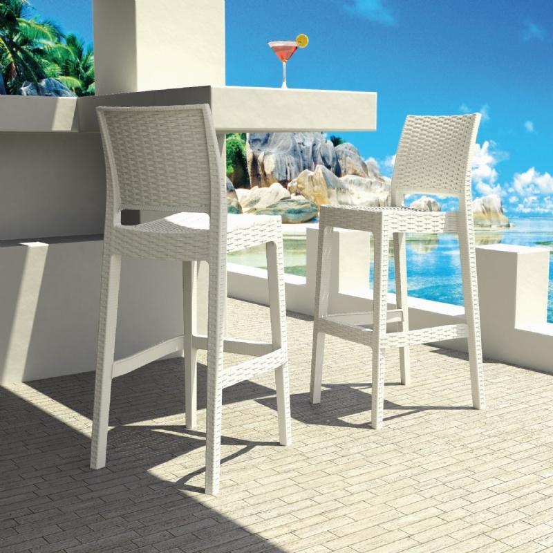 New Resin Wicker Outdoor Barstool Has Arrived Outdoor Patio Blog