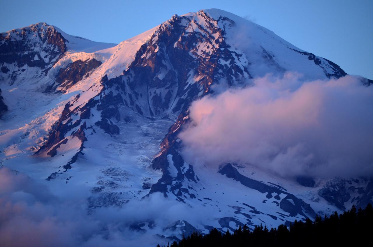 Mt Rainier At Sunset Outdoor Patio Blog Cozydays