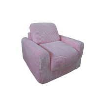 Pink Chenille Chair Sleeper