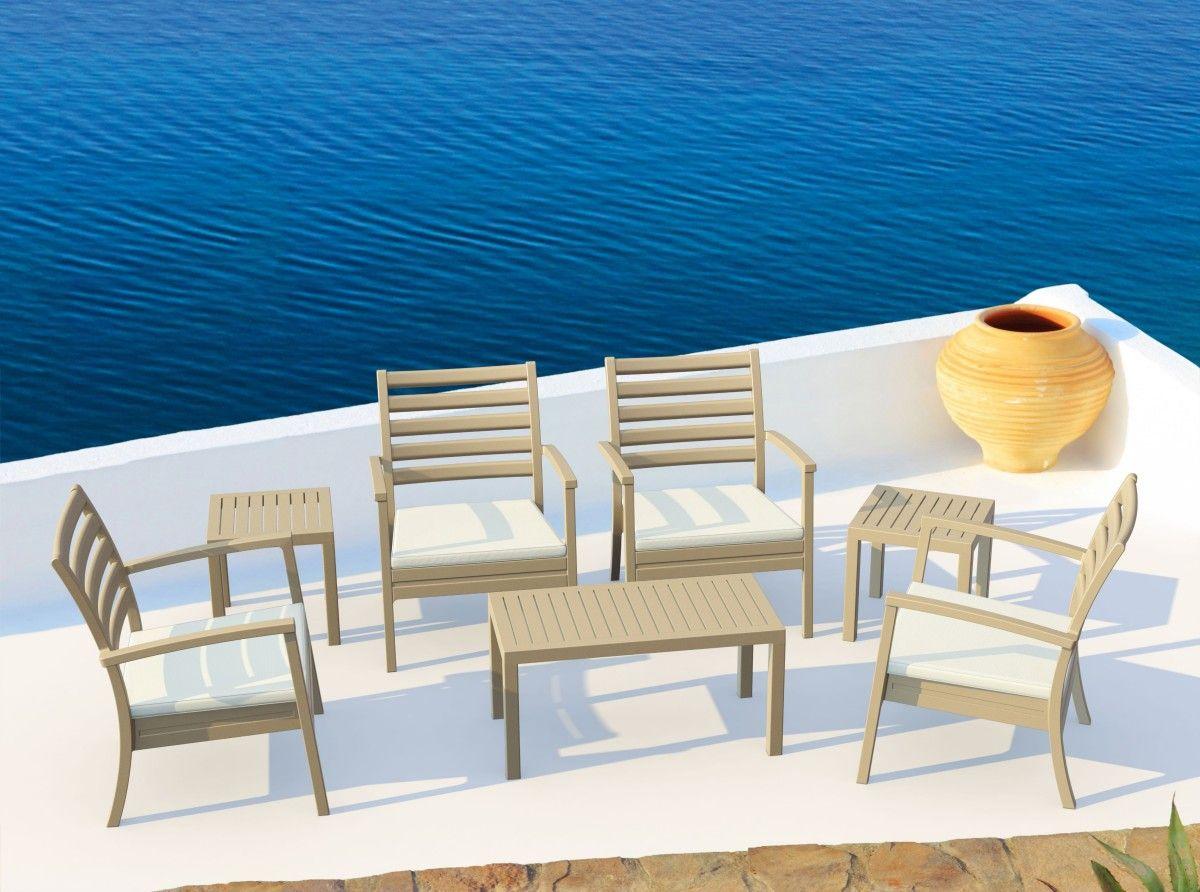 Dove Gray Artemis XL Club Seating Set
