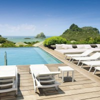Pacific Chaise Lounges & Ocean Side Table