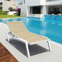 Pacific Chaise Lounge - White & Dove Gray