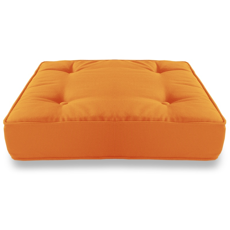 Pool & Beach: Poolside Cushions: Sunbrella® Square Floor Cushion - Tangerine