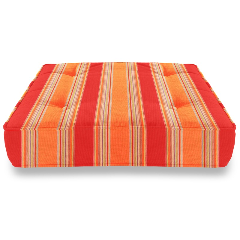 Most Popular in Washington: Pool & Beach: Poolside Cushions: Sunbrella® Square Floor Cushion - Bravada Salsa