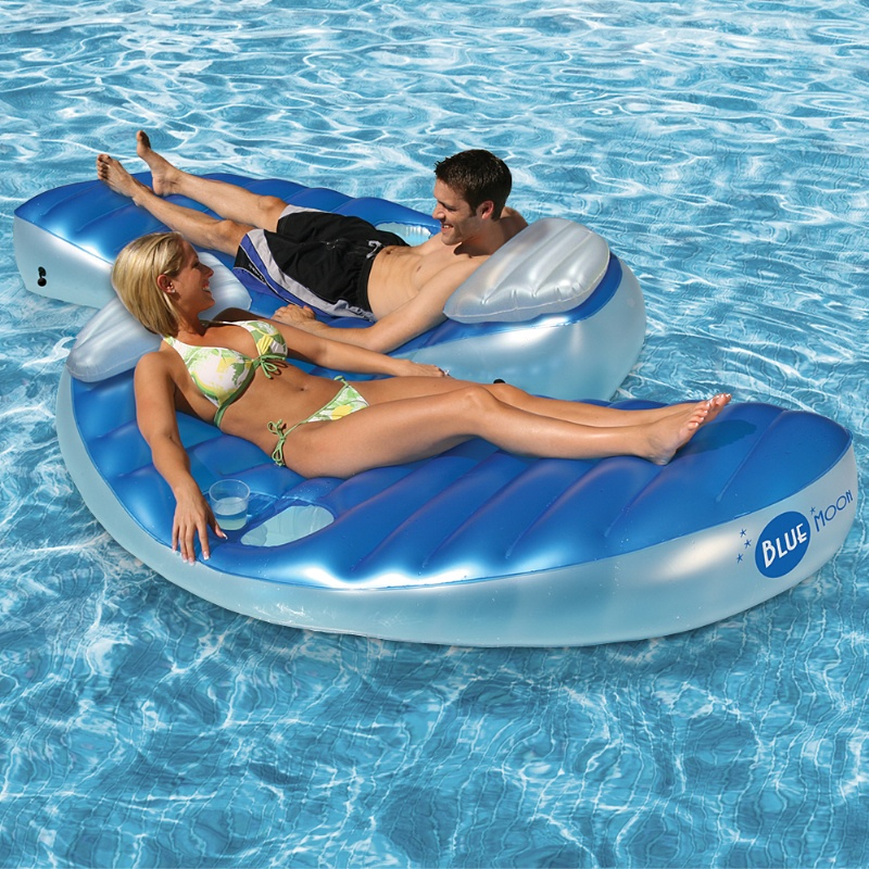 Blue Moon Inflatable Double Pool Float alternative photo #0