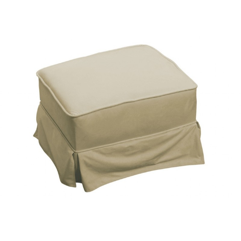 Furniture: Ottomans: Ottoman Beige Micro Fiber