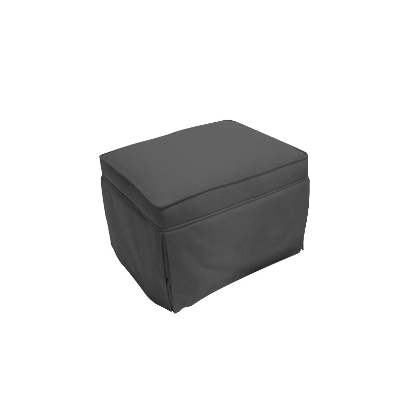 Furniture: Ottomans: Charcoal Taylor Ottoman