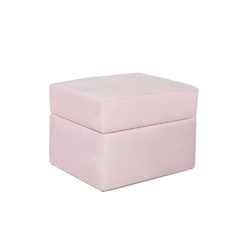 Furniture: Ottomans: Devon Ottoman Pink Micro