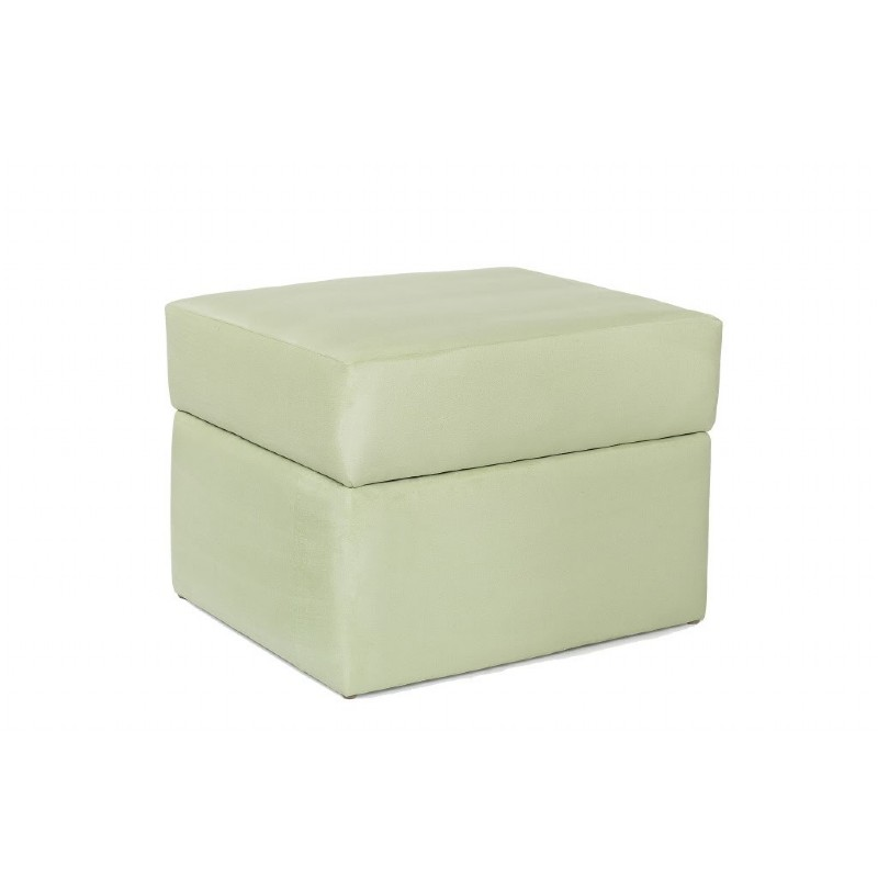 Furniture: Ottomans: Devon Ottoman Lime Micro
