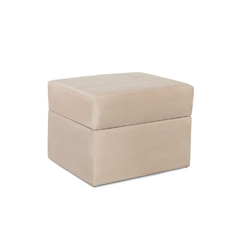 Furniture: Ottomans: Devon Ottoman Beige Micro