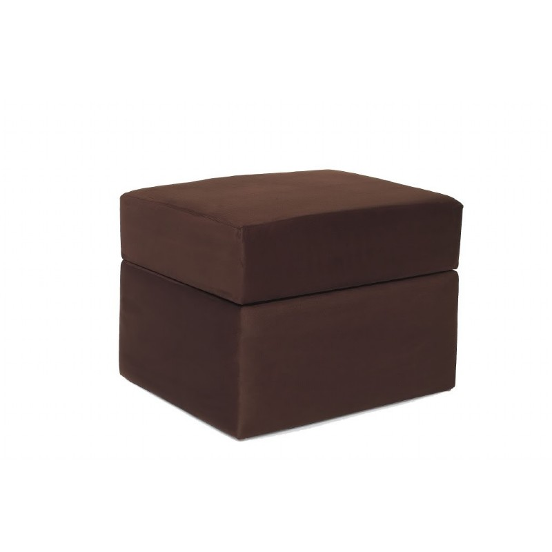 Furniture: Ottomans: Devon Ottoman Chocolate Micro