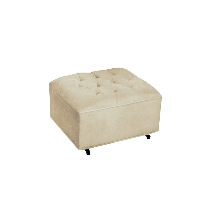 Furniture: Ottomans: Grand Ottoman Buckwheat Bella Velvet