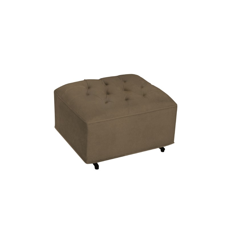Furniture: Ottomans: Grand Ottoman Chocolate Bella Velvet