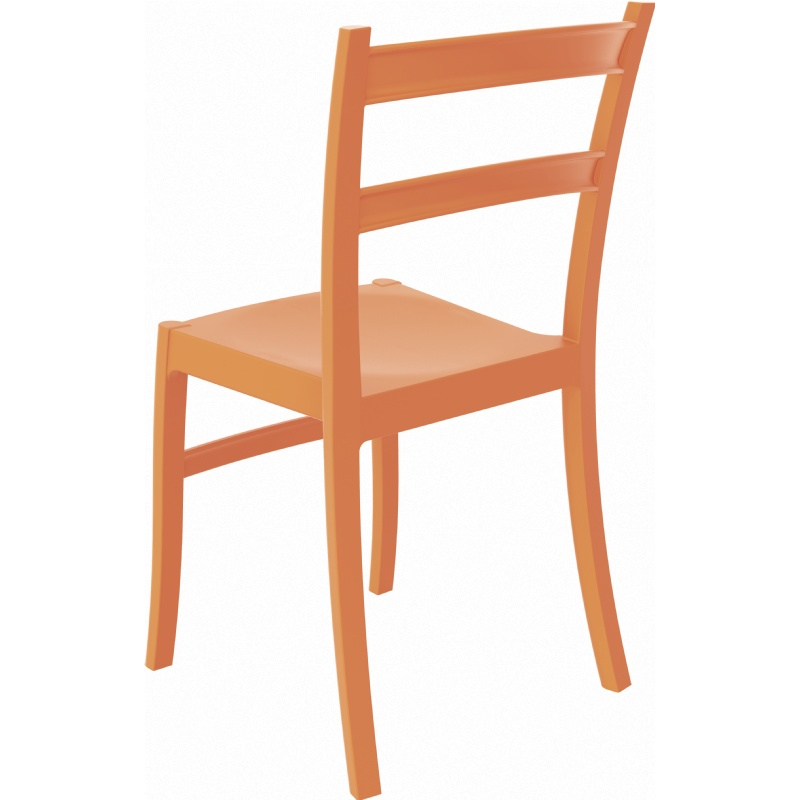 Tiffany Cafe Outdoor Dining Chair Orange alternative photo #3