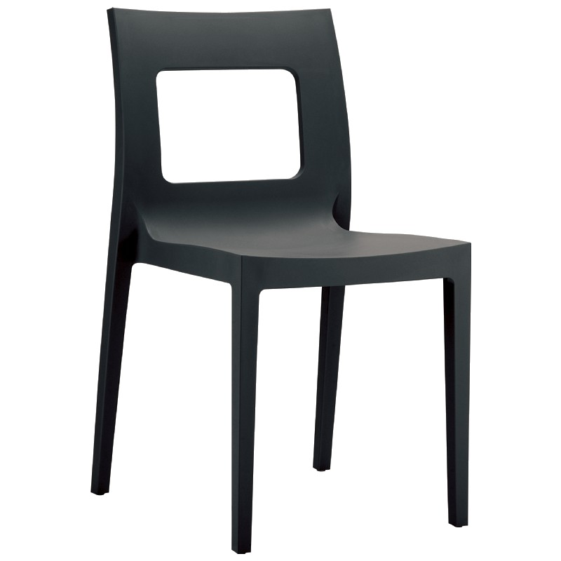 Lucca Outdoor Dining Chair Dark Grey : Dining Chairs