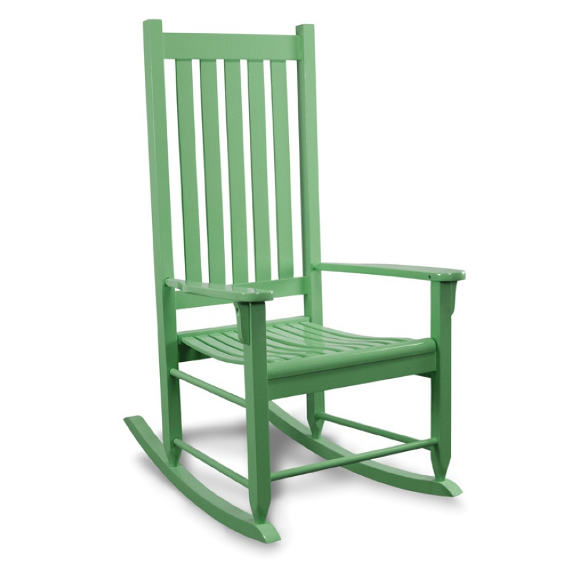 Traditional Wood Rocking Chair Green