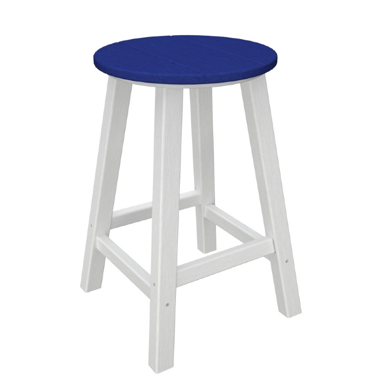 Polywood Contempo Round Outdoor Counter Stool