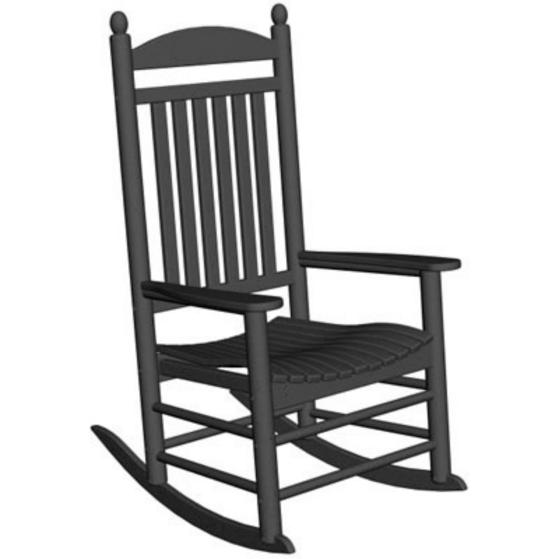 Heavy Duty Folding Outdoor Rocking Chair: Polywood Jefferson Outdoor Rocking Chair