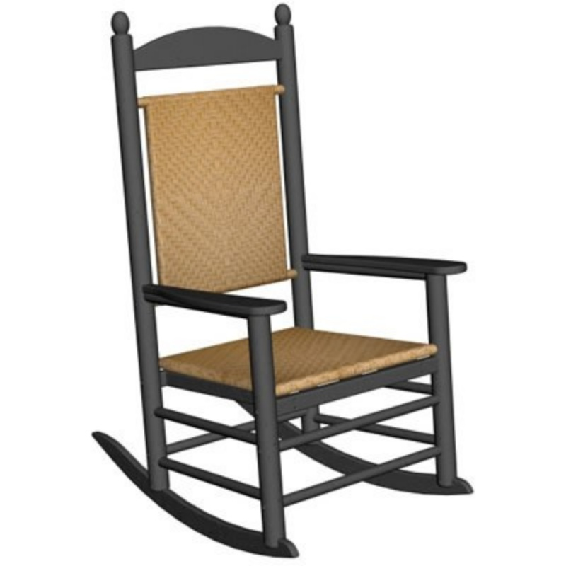 Heavy Duty Folding Outdoor Rocking Chair: Polywood Kennedy Outdoor Rocking Chair
