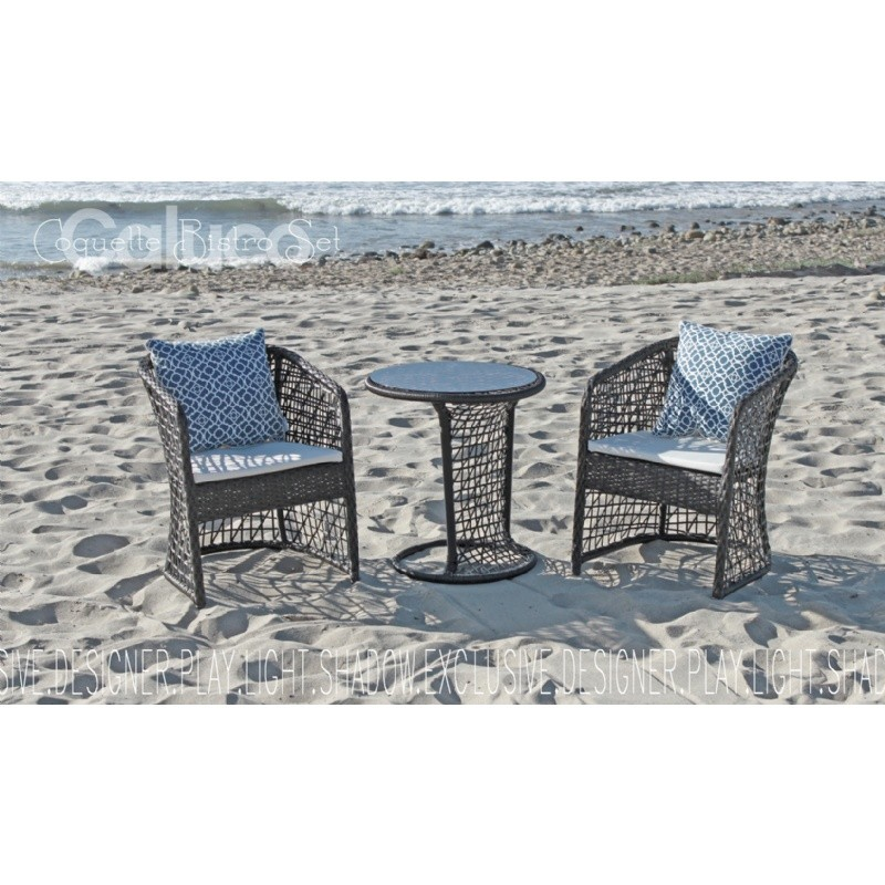 Outdoor Furniture: Caluco: Coquette 3 Piece Outdoor Bistro Set