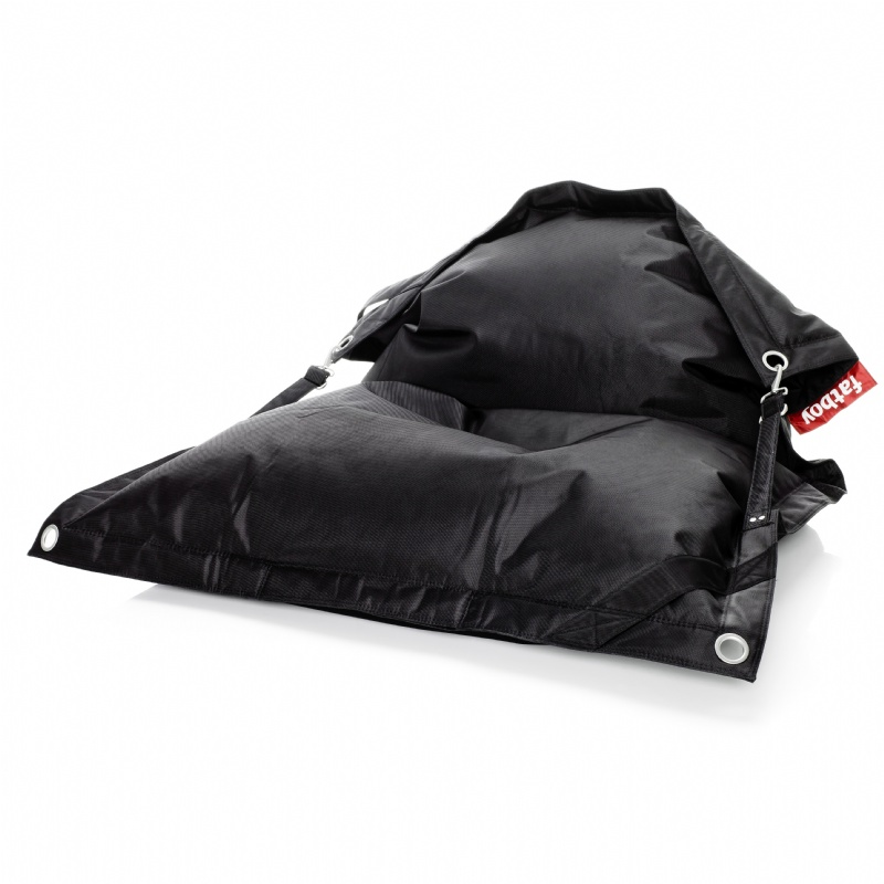 Fatboy Outdoor Bean Bag Lounger Black 55x75 : Bean Bag Loungers