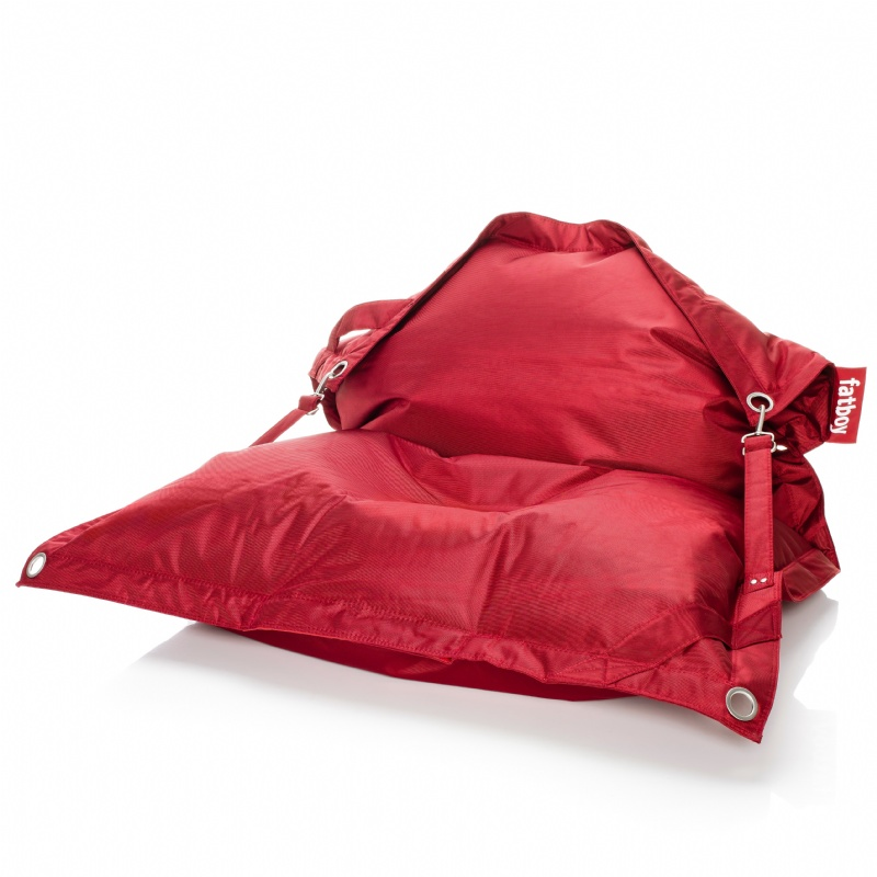 Red Bean Bags: Fatboy Outdoor Bean Bag Lounger Red 55x75