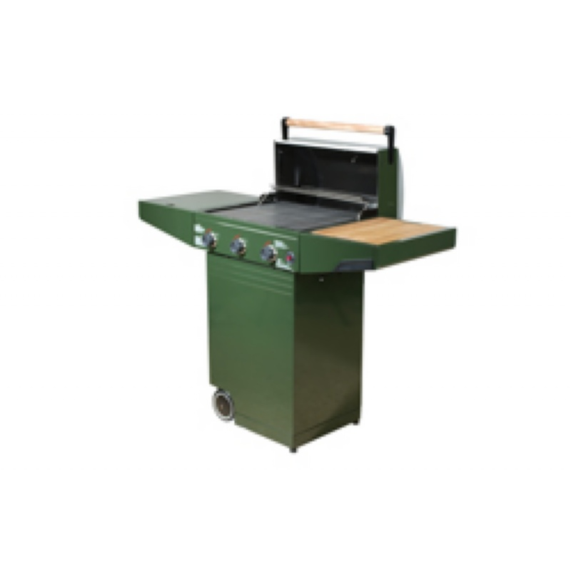 Minden Master Gas Grill Green : Barbecue Grills