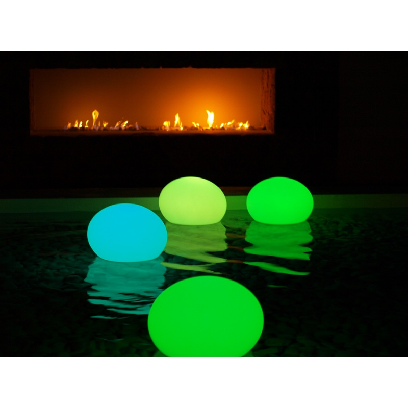Pool Decor, Floating Lights, Pond Decor: Floating Swimming Pool Lamp Flatball 13 × 10 inch