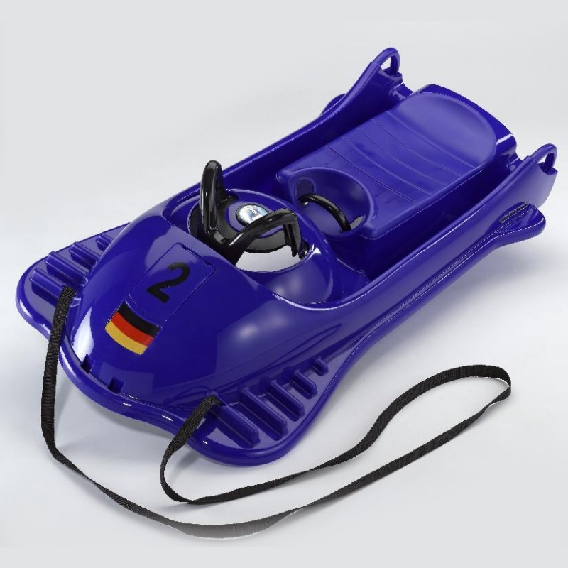 Snow Racer Plastic Sled Black