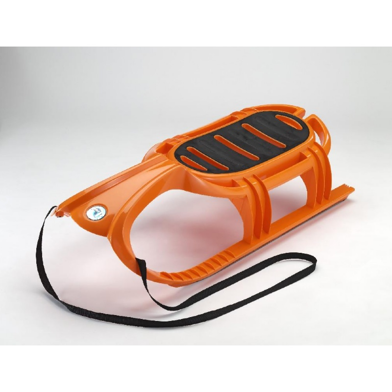 Snow Tiger Plastic Snow Sled Orange : Foam Snow Sleds