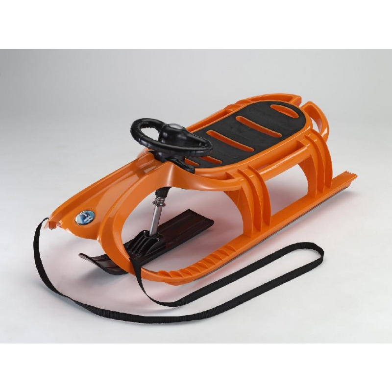 Snow Tiger Deluxe Plastic Snow Sled Orange : Foam Snow Sleds