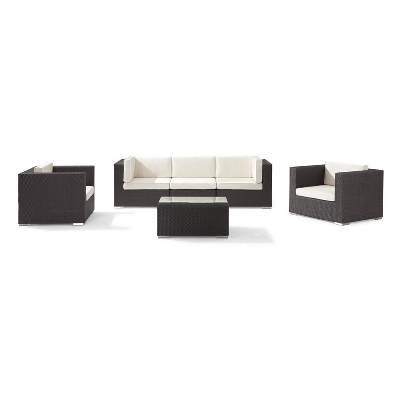 Outdoor Furniture: Sectional Outdoor Furniture: Dijon Modern Patio Club Deep Seating Set 6 Piece