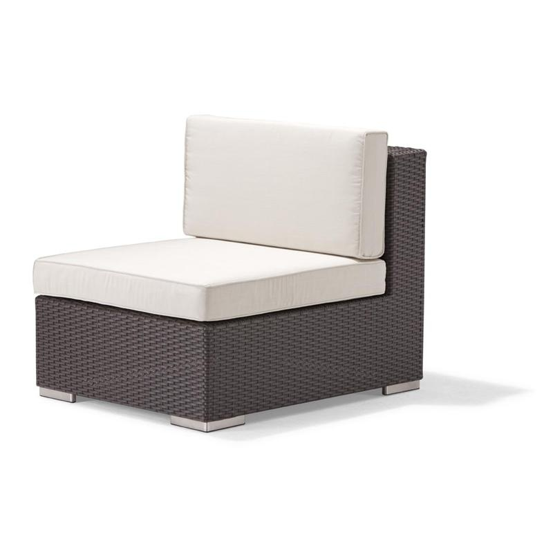 Outdoor Furniture: Sectional Outdoor Furniture: Dijon Patio Sectional Middle Unit