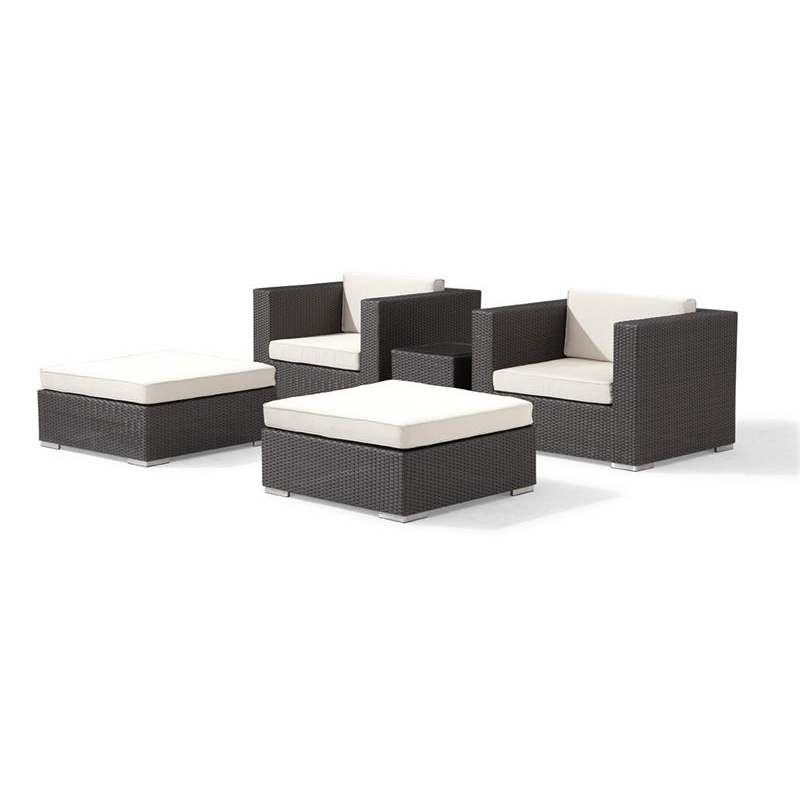 Dijon Modern Patio Club Deep Seating Set 5 Piece alternative photo #0
