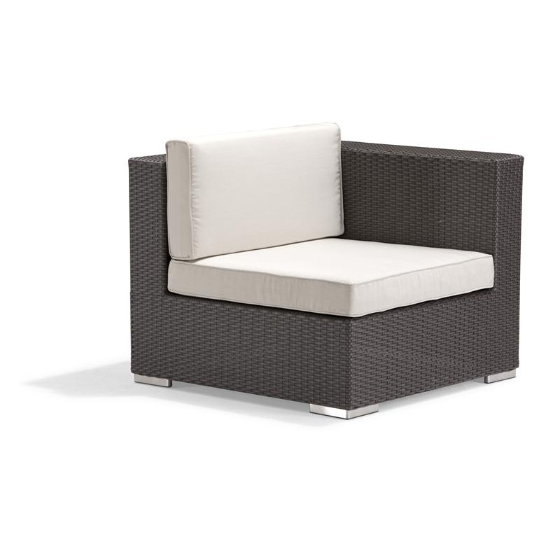 Outdoor Furniture: Sectional Outdoor Furniture: Dijon Patio Sectional Left End Unit