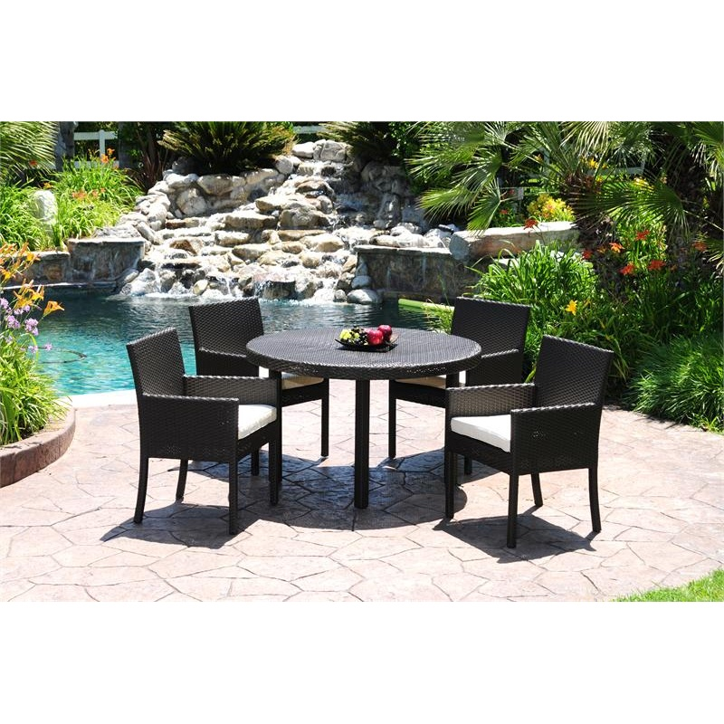 Dijon Modern Patio Dining Set 5 Piece : Pool Furniture Sets