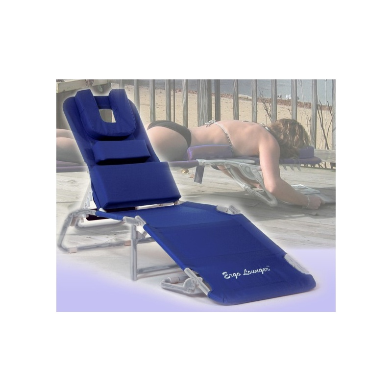 Ergo lounger rs facedown chaise lounge beach chair blue for Chaise lounge beach towels