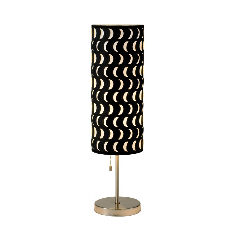 Lighting: Modern Table Lamps: Adesso Black Vibe Crescent Table Lamp