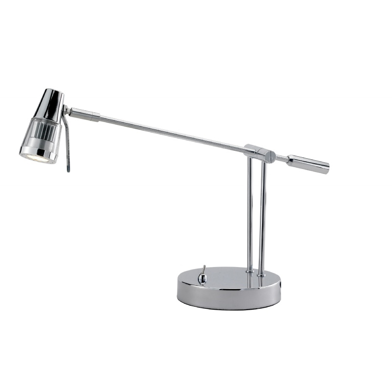 Lighting: Modern Table Lamps: Adesso Chrome Maestro Balance Arm Desk Lamp