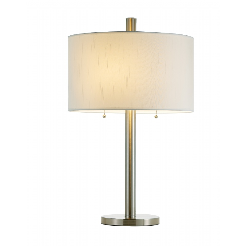 Lighting: Classic Table Lamps: Adesso Satin Steel Boulevard Table Lamp