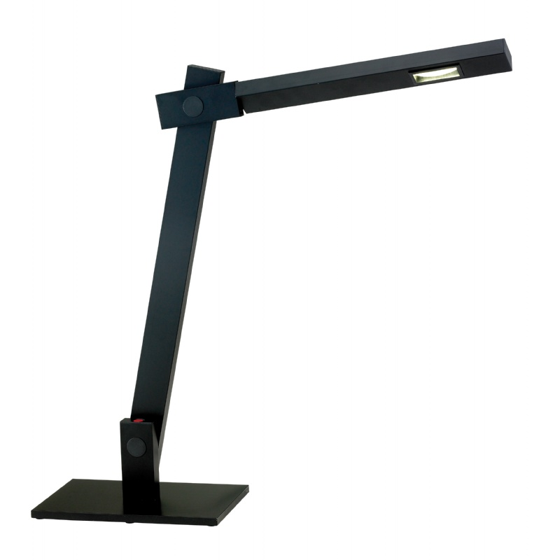 Lighting: Modern Table Lamps: Adesso Black Reach Desk Lamp