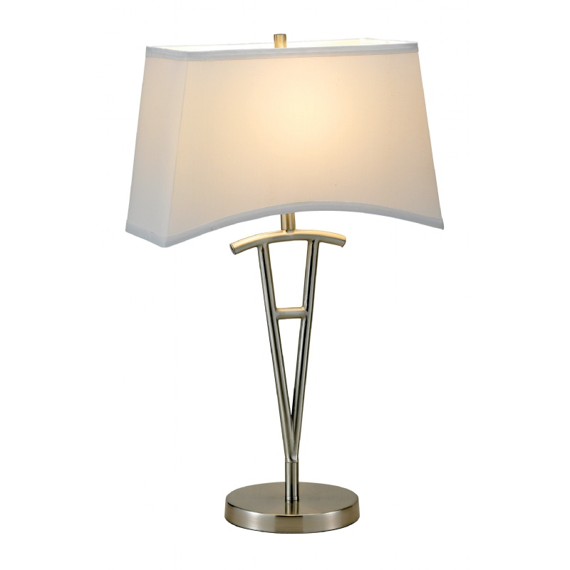 Adesso Satin Steel Taylor Table Lamp