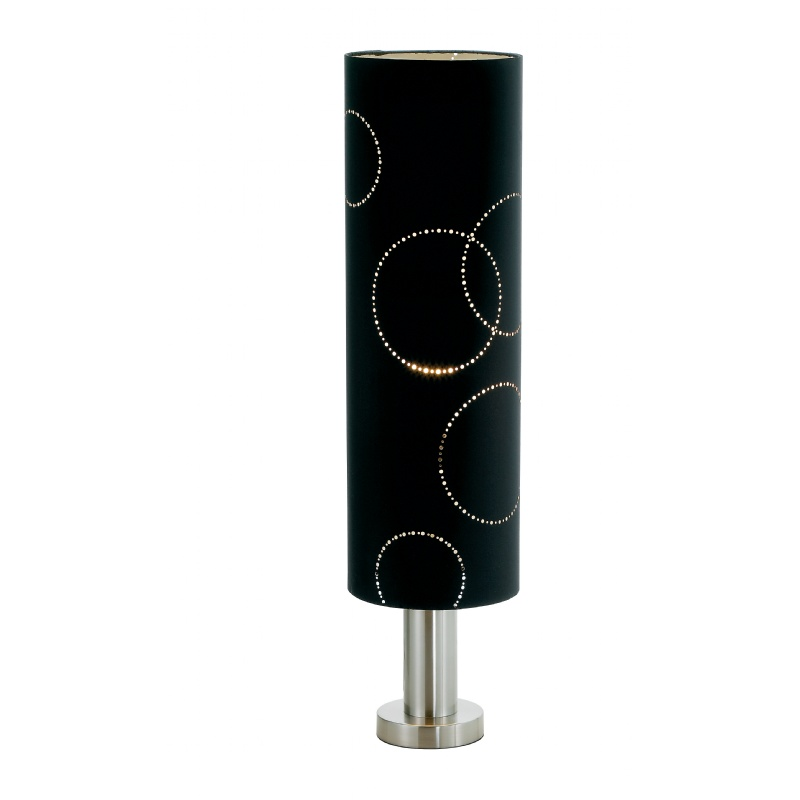 Lighting: Modern Table Lamps: Adesso Black Solaris Table Lamp