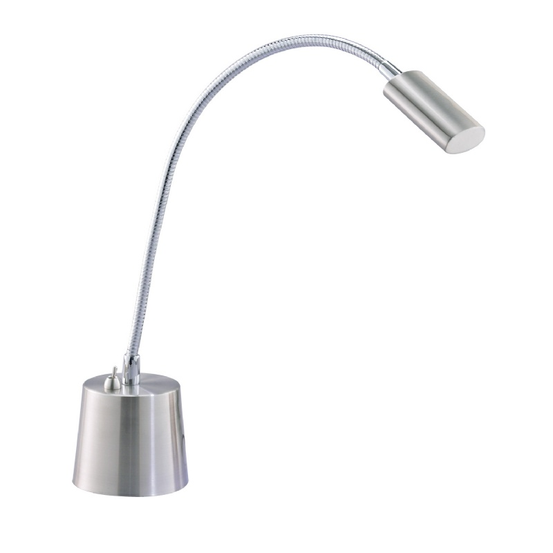 Adesso Satin Steel Eternity Gooseneck Desk Lamp