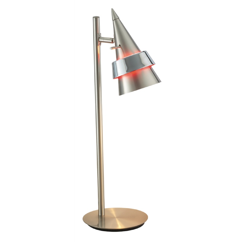 Adesso Satin Steel Blaze Desk Lamp