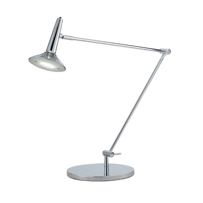 Lighting: Modern Table Lamps: Adesso Chrome Radar Desk Lamp